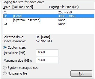 optimized paging file