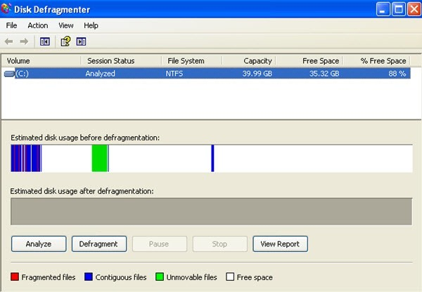 disk defragmenter windows 7 software