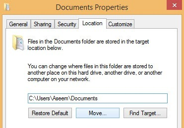 move folder target