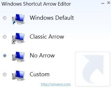 remove shortcut arrows