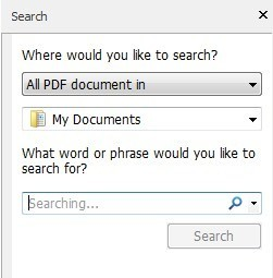 way to search for text in folder of pdf files