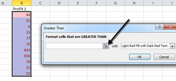 Format Cells Using Conditional Formatting In Excel. Cell Reference. Worksheet. Than Then Worksheet At Clickcart.co