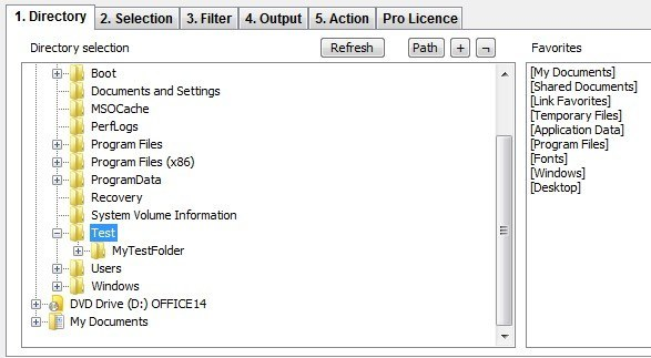 how to print a list of files in a windows directory