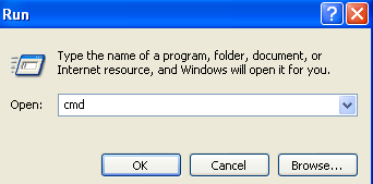 how to open run window using cmd