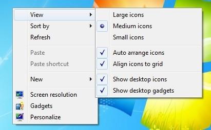 How to make desktop icons smaller windows 7