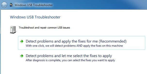 how to solve usb not recognized problem