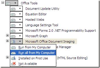 Install MODI In Office XP, 2003, 2007