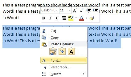 Hide Text And Show Hidden In Word