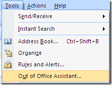 how to put out of office in outlook 2013