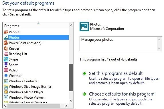 how to change default program open file windows