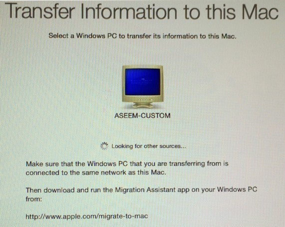Apple Migrate To Mac From Pc Download