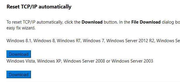 winsockfix windows 7