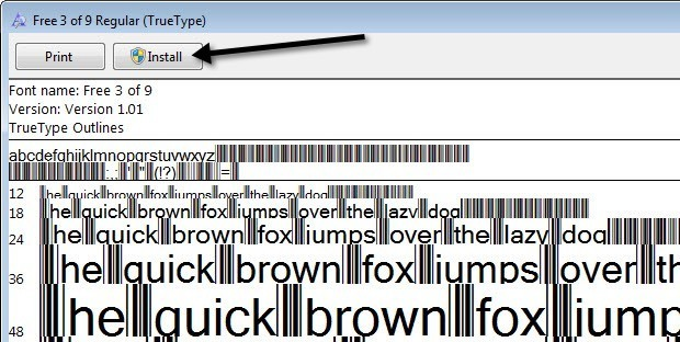 Use Microsoft Word As A Barcode Generator