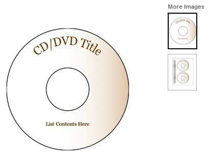 Create Your Own CD And DVD Labels Using Free MS Word Templates - Memorex cd label template