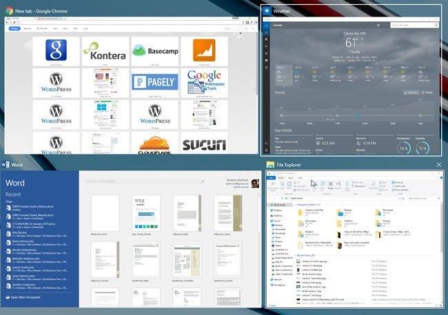 switch between apps windows 10