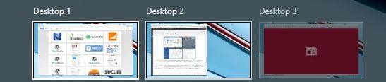 switch between desktops