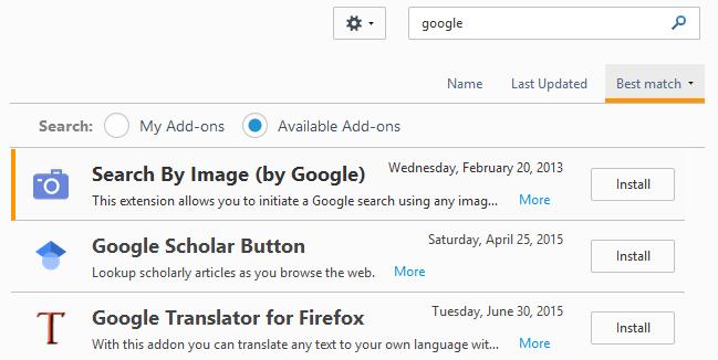 google translate extension firefox