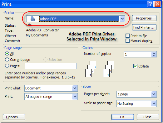 where to find page size in an adobe pdf