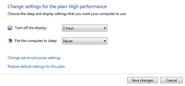 change plan settings