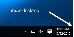 show desktop button