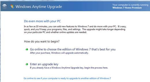 upgrade windows 7