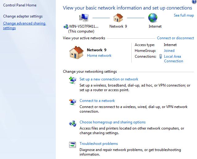 windows 7 network settings