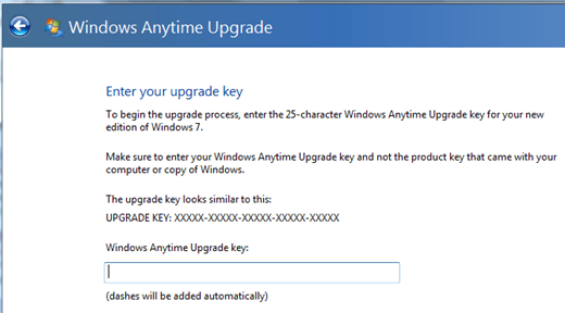 windows 7 upgrade key