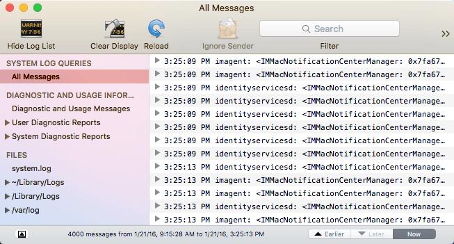 windows event log viewer mac