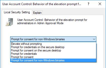 admin approval mode settings