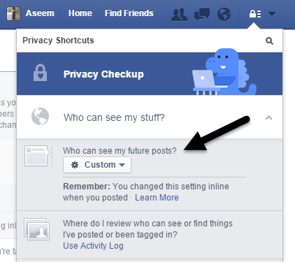 hide your facebook status from one or specific friends rh online tech tips com
