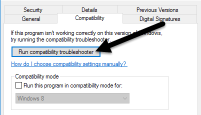 compatibility troubleshooter