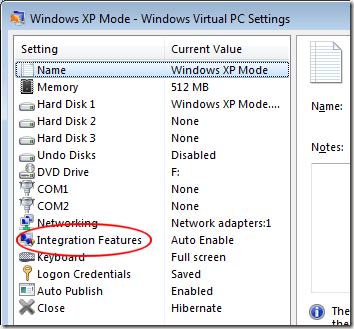 Click on XP Mode Integration Features