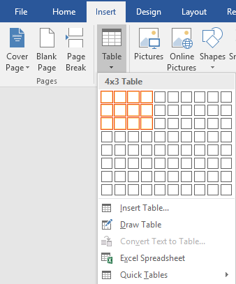 How to create and use formulas in tables in word for Table design on word