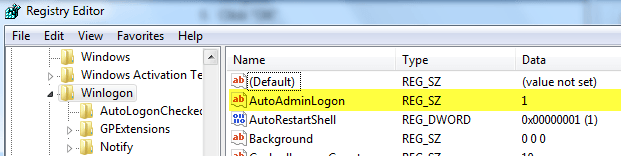 Configure Auto Login For Windows 7 Domain Or Workgroup Pc