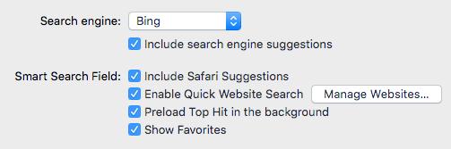 how to change search engine safari mac