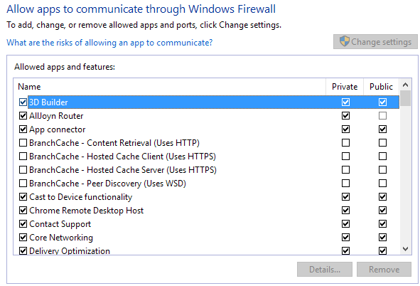 allow app firewall