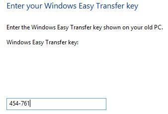 new transfer key