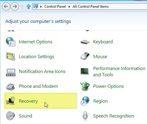 how to create a recovery drive in windows 8