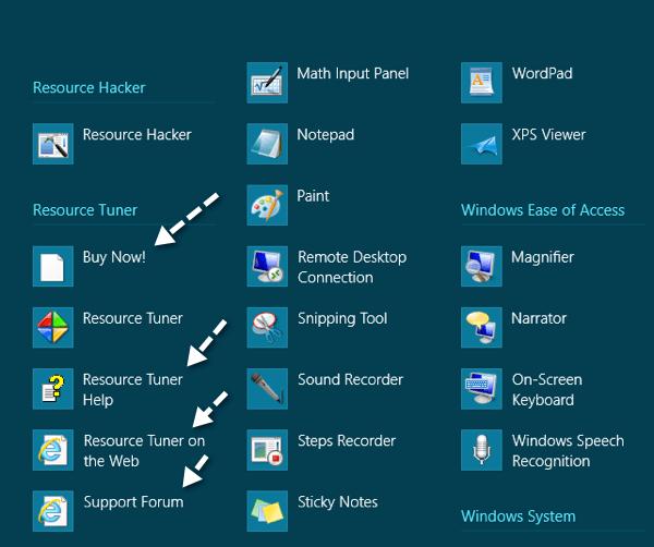 all apps menu