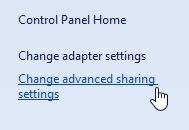 change sharing settings
