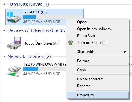 hard drive properties