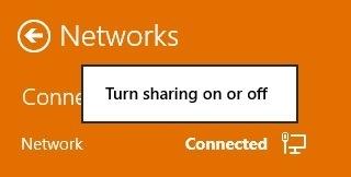 turn sharing on