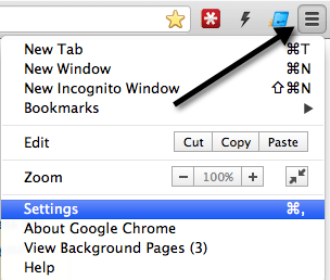 how to change page that chrome opens on start