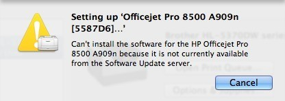 Available From The Software Update Server Cant Install Printer