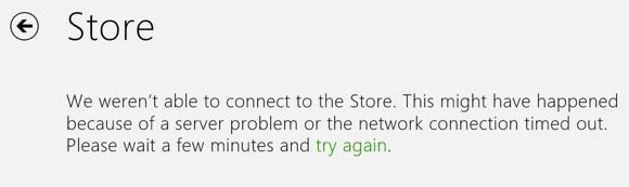cannot connect to store