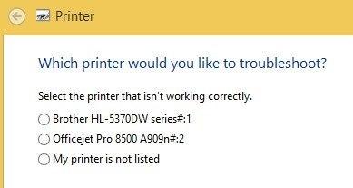 troubleshoot printer