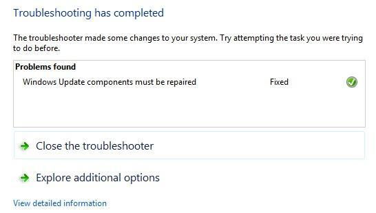 troubleshooting completed