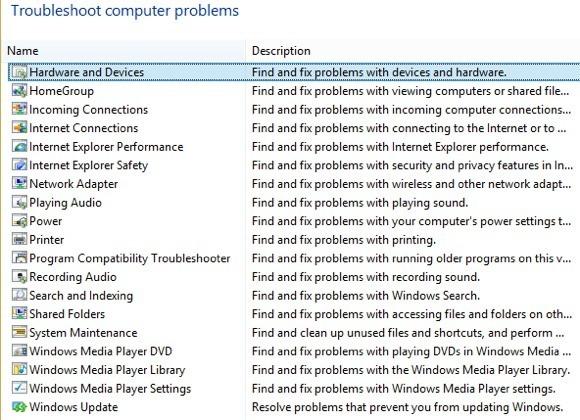 troubleshooting windows 8