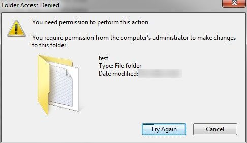 "Trying to copy a file, ""you need permission to perform this."