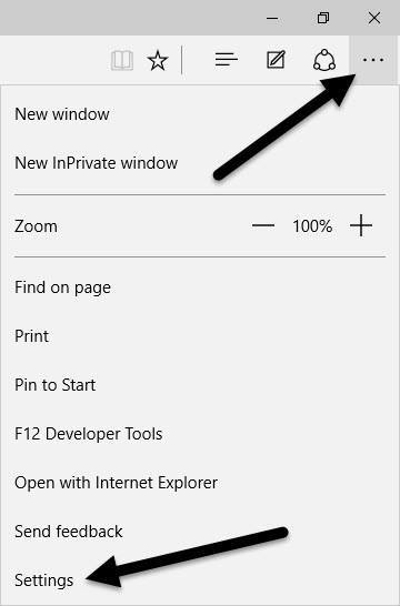 microsoft edge more actions